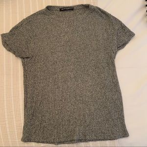Brandy Melville knit grey tee